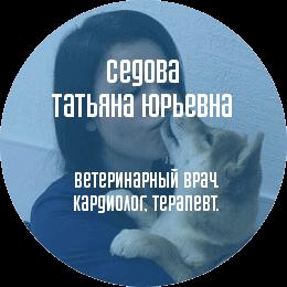 О докторе: Седова Татьяна Юрьевна. Ветеринарный врач, кардиолог, терапевт.